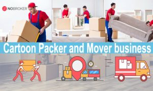 Cartoon Packer and Mover business