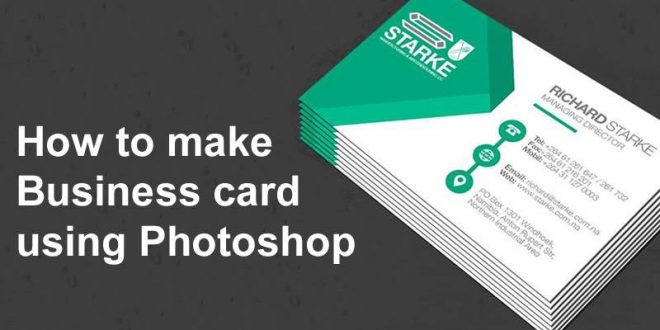 how to make business card using photoshop
