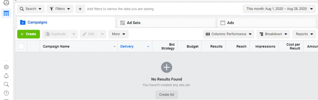 how to create a Facebook ad campaign in the business manager